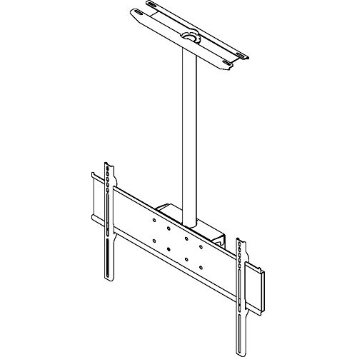 "Peerless-AV PLC-MUNLCP Straight Column Flat Panel Mount for 32-65"" LCD or Plasma Screens with 33"" Extension Column and Ceiling Plate"