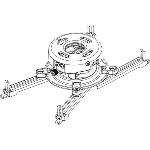 Peerless Industries PRS-UNVW Projector Mount with Spider Adapter (White)