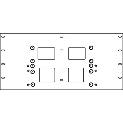 Peerless-AV Triple Stud Wall Plate, Model WSP-716  (Black)