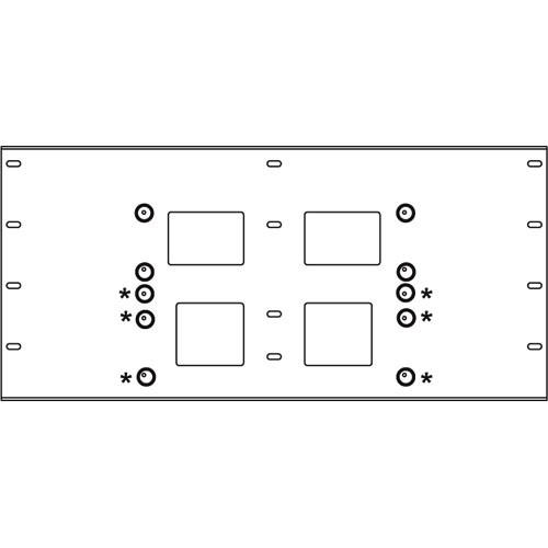 Peerless-AV Triple Stud Wall Plate, Model WSP-716  (Black)