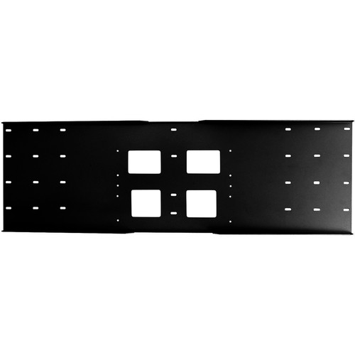 Peerless-AV Triple-Stud Wall Plate, Model WSP-724GB  (Gloss Black)