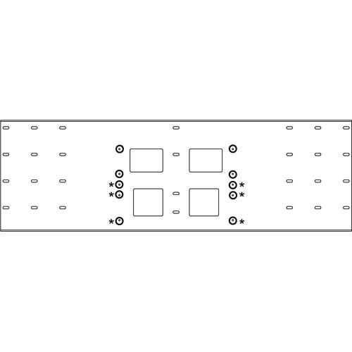 Peerless-AV Triple-Stud Wall Plate, Model WSP-724GS  (Gloss Silver )