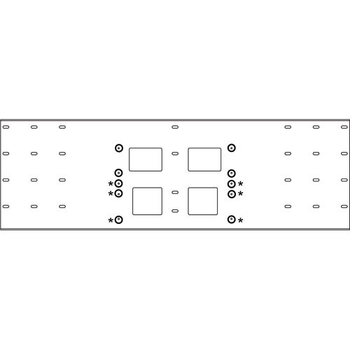Peerless-AV Triple-Stud Wall Plate, Model WSP-724S  (Silver )
