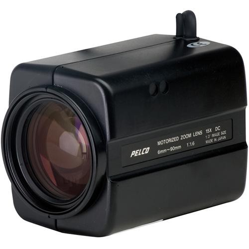 "Pelco 13ZD6X15P  Motorized Zoom Lens (1/3"", Auto Iris, 6-90mm, CS Mount, Motorized Presets)"