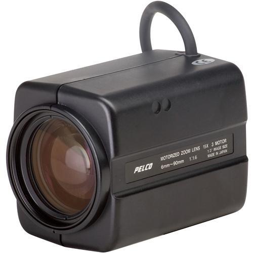 "Pelco 13ZM6X15 Zoom CCTV Lens (1/3"", 15x, 6-90mm, f1.4)"
