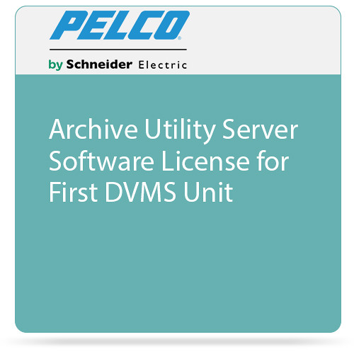 Pelco Archive Utility Server Software License for First DVMS Unit
