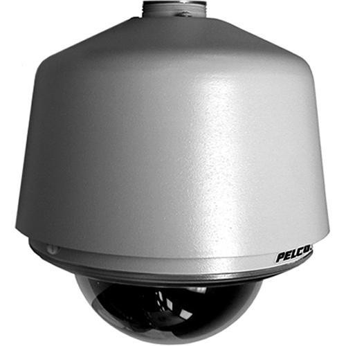 "Pelco DF5HD-PG-E1 5"" Outdoor Heavy Duty Gray Pendant Mount Dome (Clear)"