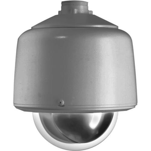 "Pelco DF5-PG-E1 5"" Outdoor Gray Pendant Fixed Mount Dome (Clear)"