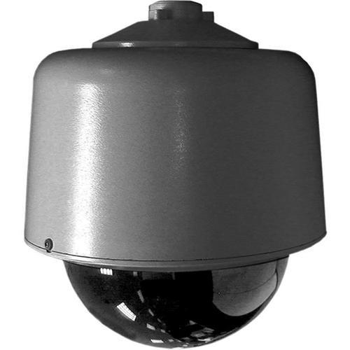 "Pelco DF8-PG-E1 8"" Environmental Gray Pendant Mount Dome w/Opaque Black Bubble (Clear Window)"