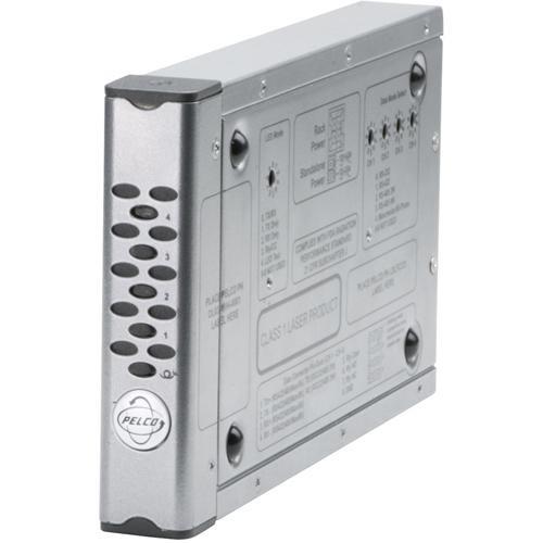 Pelco FT8104MSTR 4-Channel Multimode Bidirectional Data Fiber Transmitter (ST Connector)