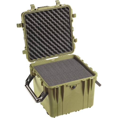 Pelican 0340 Cube Case with Foam (Olive Drab Green)