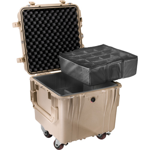 "Pelican 0344 18"" 0340 Cube Case with Mobility Kit with Dividers (Desert Tan)"