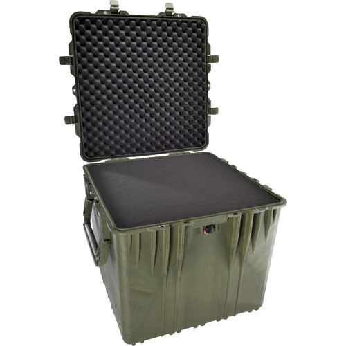 """Pelican 0370 24"""" Cube Case with Foam (Olive Drab)"""