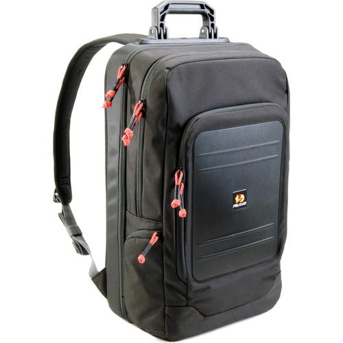 "Pelican U105 Urban Lite Backpack with 15.4"" Laptop Pocket (Black, Red Zipper Pulls)"