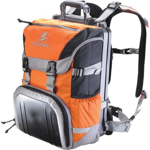 Pelican S100 Sport Elite Laptop Backpack (Orange on Black/Gray)