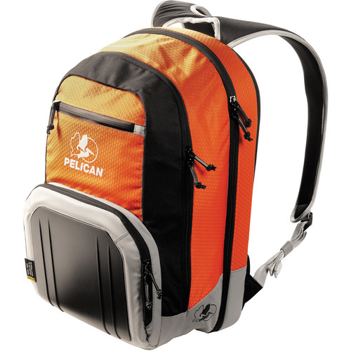 Pelican S105 Sport Laptop Backpack (Orange on Black/Gray)