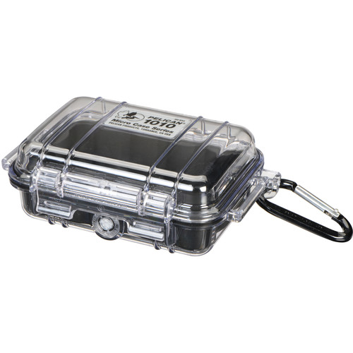 Pelican 1010 Micro Case (Clear Black with Colored Lining)
