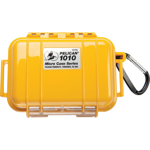 Pelican 1010 Micro Case (Solid Yellow with Black Lining)