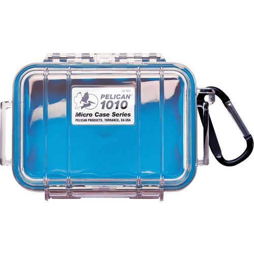 Pelican 1010 Micro Case (Clear Blue with Colored Lining)