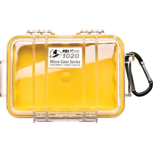 Pelican 1020 Micro Case (Clear Yellow)