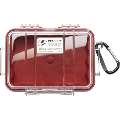 Pelican 1020 Micro Case (Clear Red)