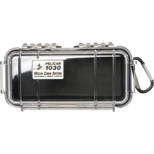 Pelican 1030 Micro Case (Clear Black with Colored Lining)