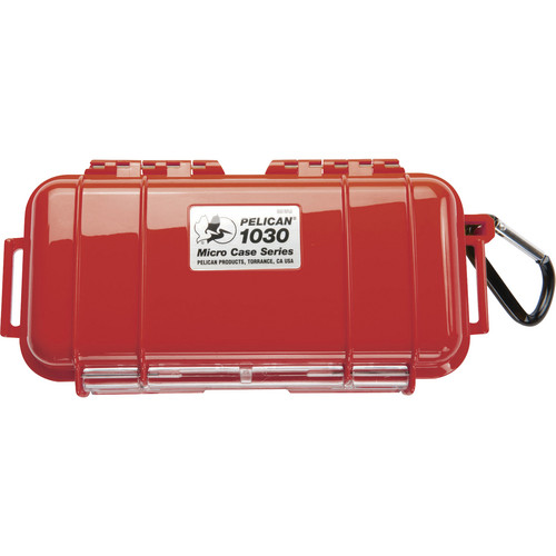 Pelican 1030 Micro Case (Solid Red with Black Lining)