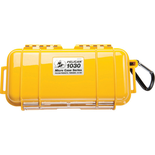 Pelican 1030 Micro Case (Solid Yellow with Black Lining)