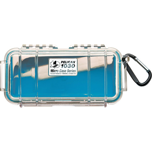Pelican 1030 Micro Case (Clear Blue with Colored Lining)