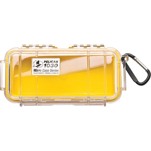 Pelican 1030 Micro Case (Clear Yellow with Colored Lining)