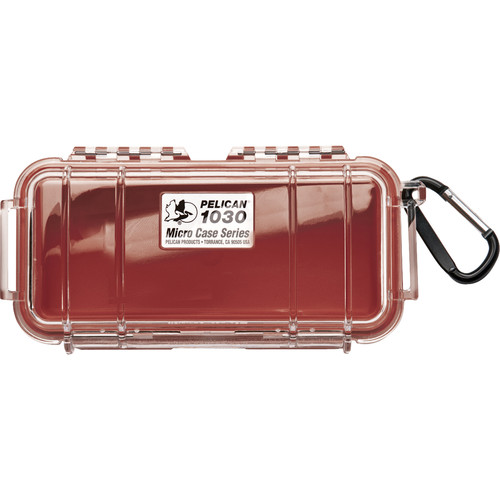 Pelican 1030 Micro Case (Clear Red with Colored Lining)
