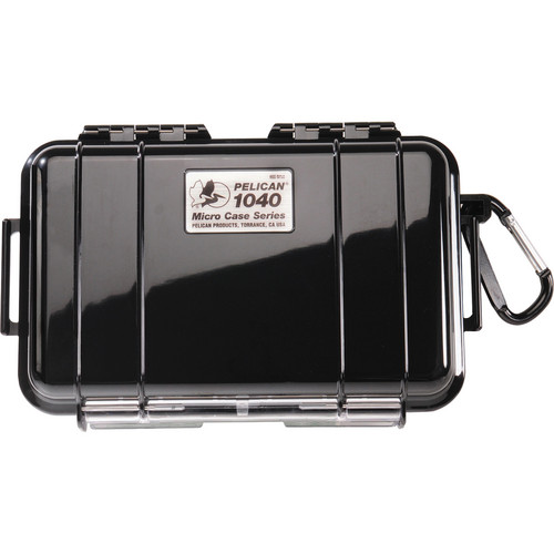 Pelican 1040 Micro Case (Solid Black with Black Lining)