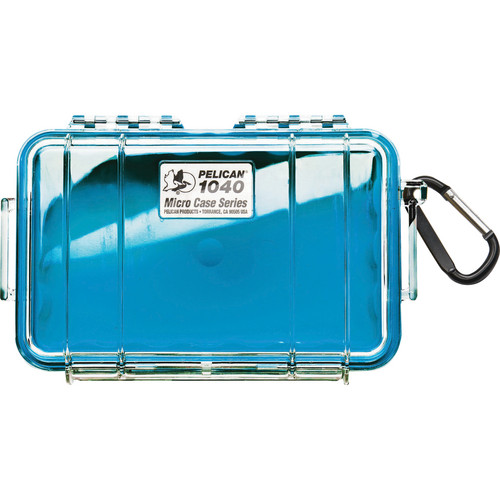 Pelican 1040 Micro Case (Clear Blue with Colored Lining)