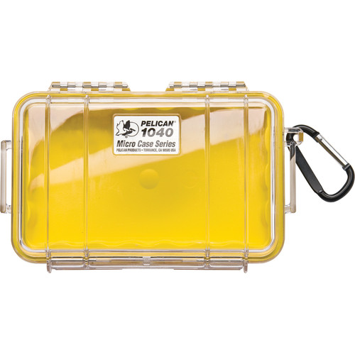 Pelican 1040 Micro Case (Clear Yellow with Colored Lining)