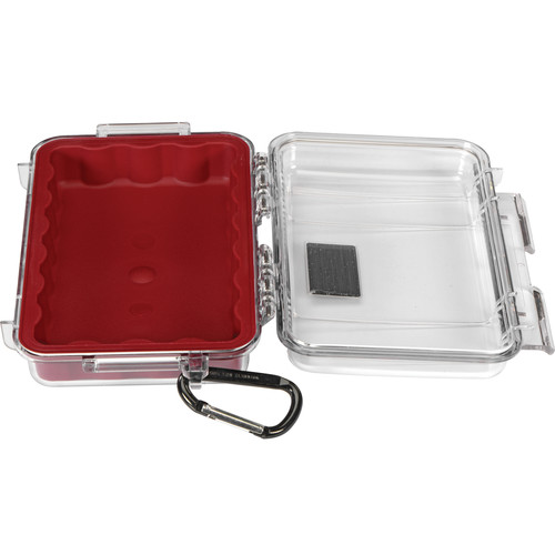 Pelican 1040 Micro Case (Clear Red with Colored Lining)