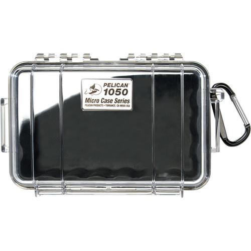 Pelican 1050 Clear Micro Case (Black)