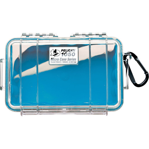 Pelican 1050 Clear Micro Case (Blue)