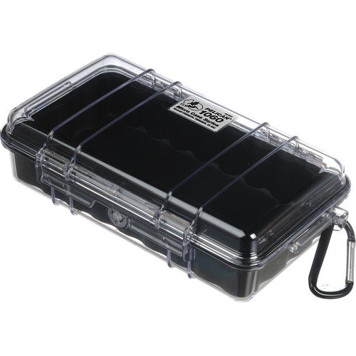 Pelican 1060 Clear Micro Case (Black)