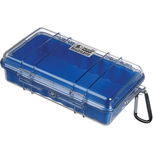 Pelican 1060 Clear Micro Case (Blue)