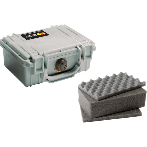 Pelican 1120 Case with Foam (Silver)