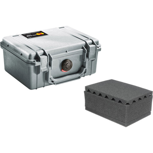 Pelican 1150 Case with Foam (Silver)