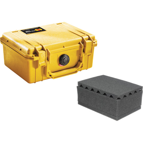 Pelican 1150 Case with Foam (Yellow)