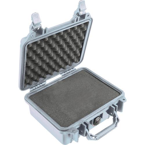 Pelican 1200 Case with Foam (Silver)
