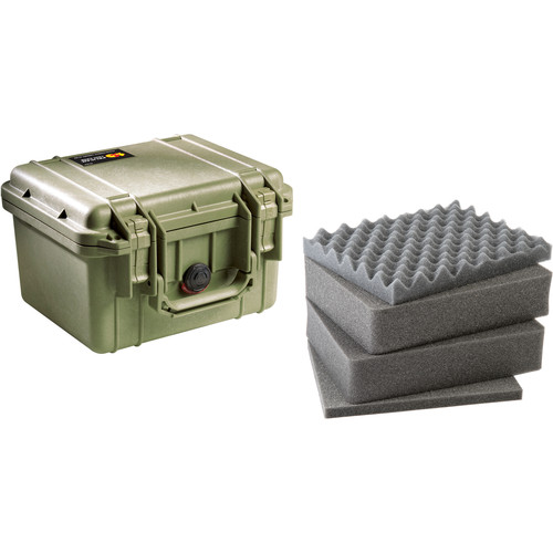 Pelican 1300 Case with Foam (Olive Drab)