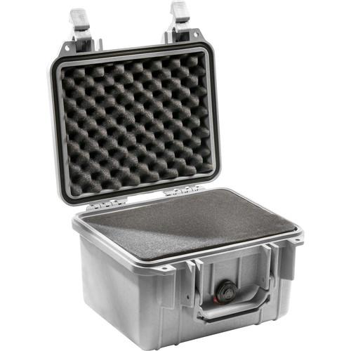 Pelican 1300 Case with Foam (Silver)