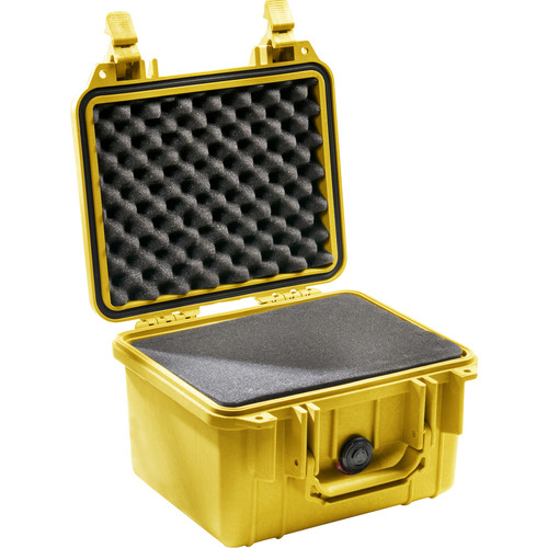 Pelican 1300 Case with Foam (Yellow)
