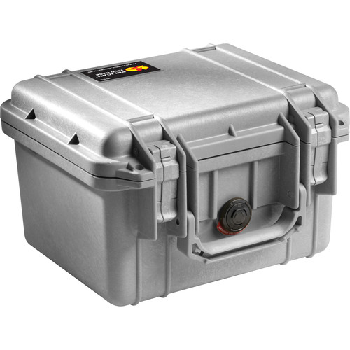 Pelican 1300 Case without Foam (Silver)