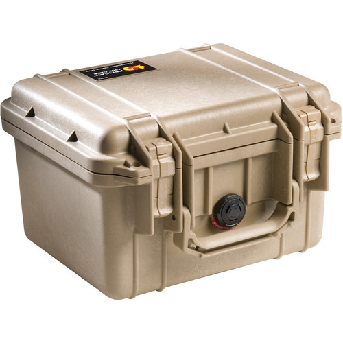 Pelican 1300 Case without Foam (Desert Tan)