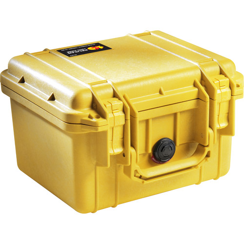 Pelican 1300 Case without Foam (Yellow)