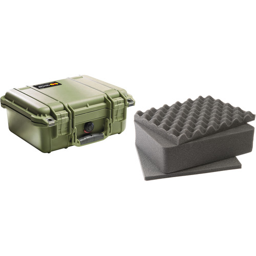 Pelican 1400 Case with Foam (Olive Drab)